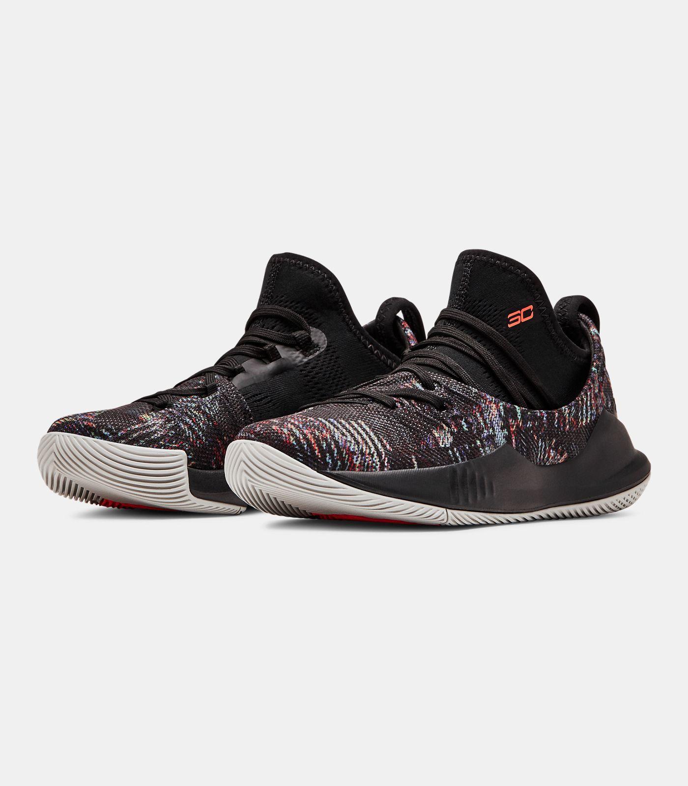 Pre-School UA Curry 5 Basketball Shoes, Black , , Black