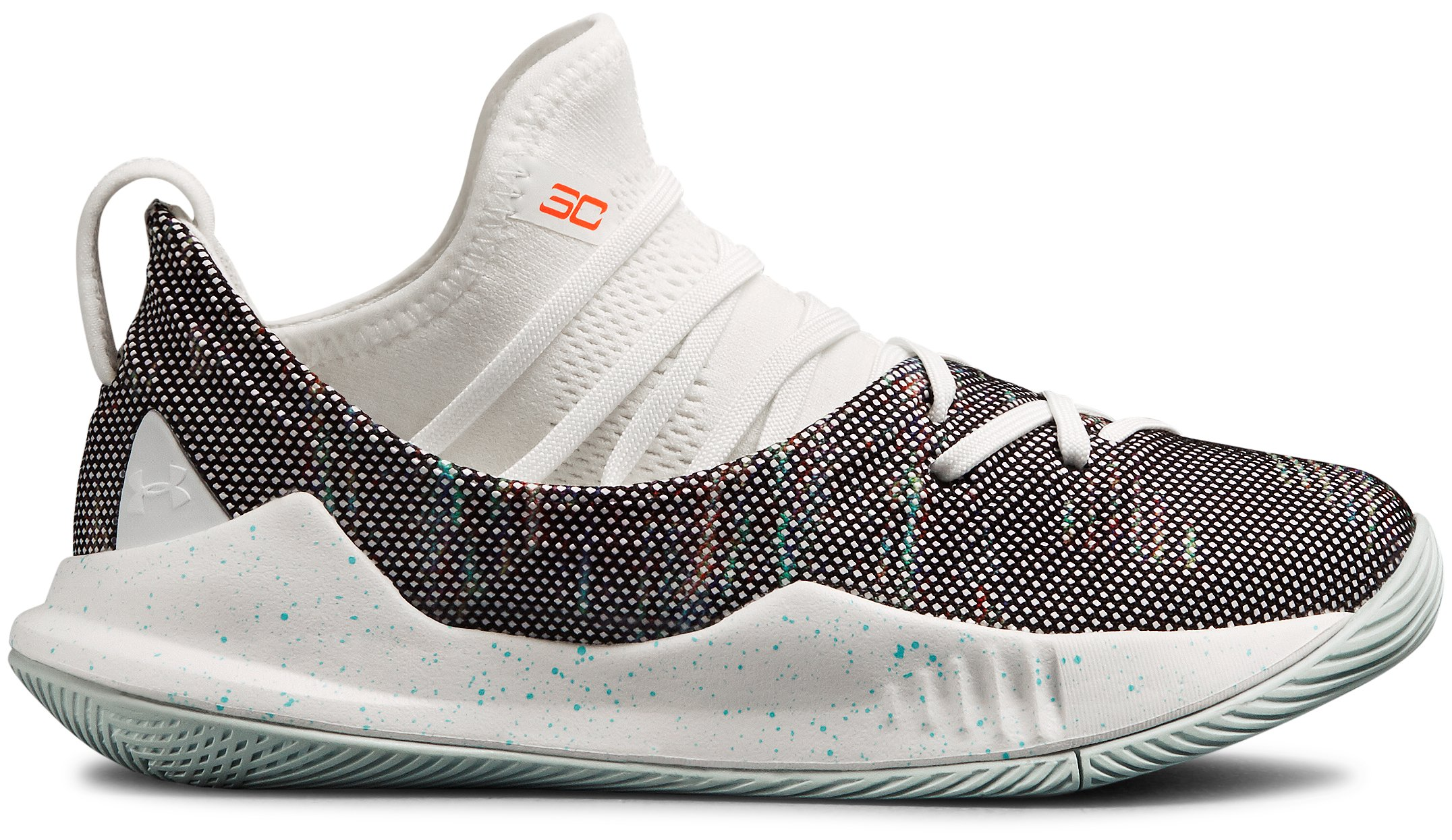 Boys' Pre-School UA Curry 5 Basketball Shoes, White,
