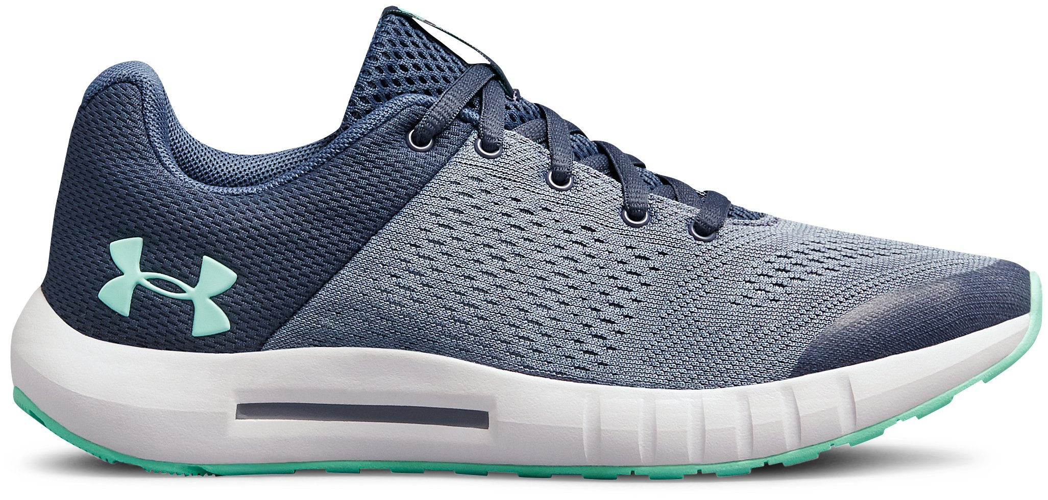 UA GGS Pursuit, Utility Blue, zoomed