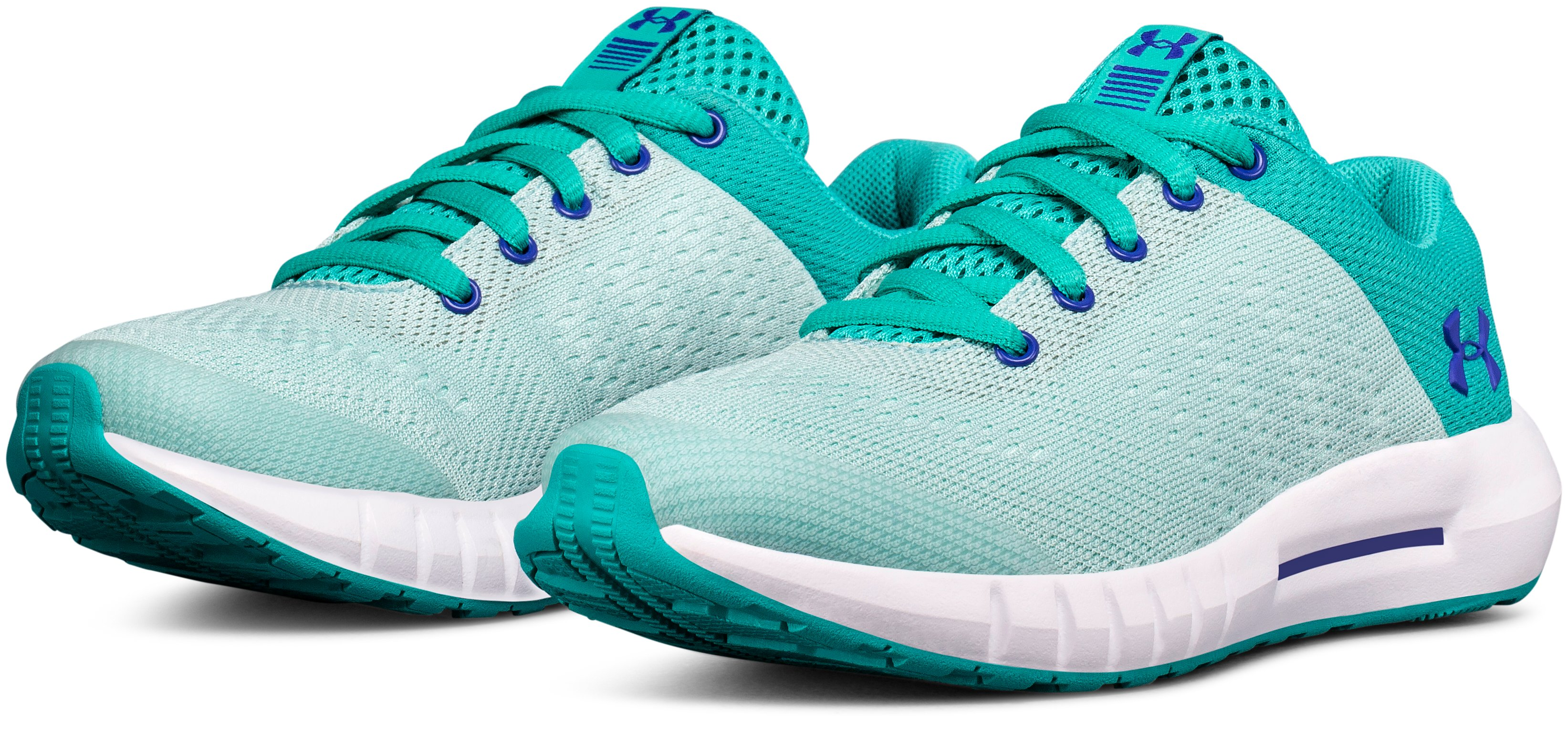 Girls' Pre-School UA Pursuit, TEAL PUNCH,