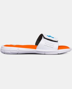 New Arrival Boys' UA Ignite V Team Slides  1 Color $30