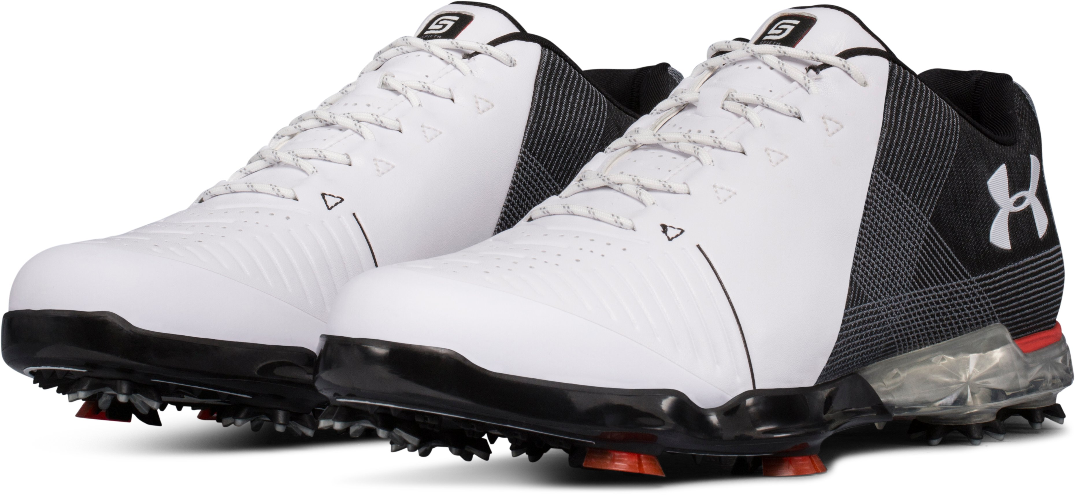 Men's UA Spieth 2 Wide (E) Golf Shoes, WHITE 1,
