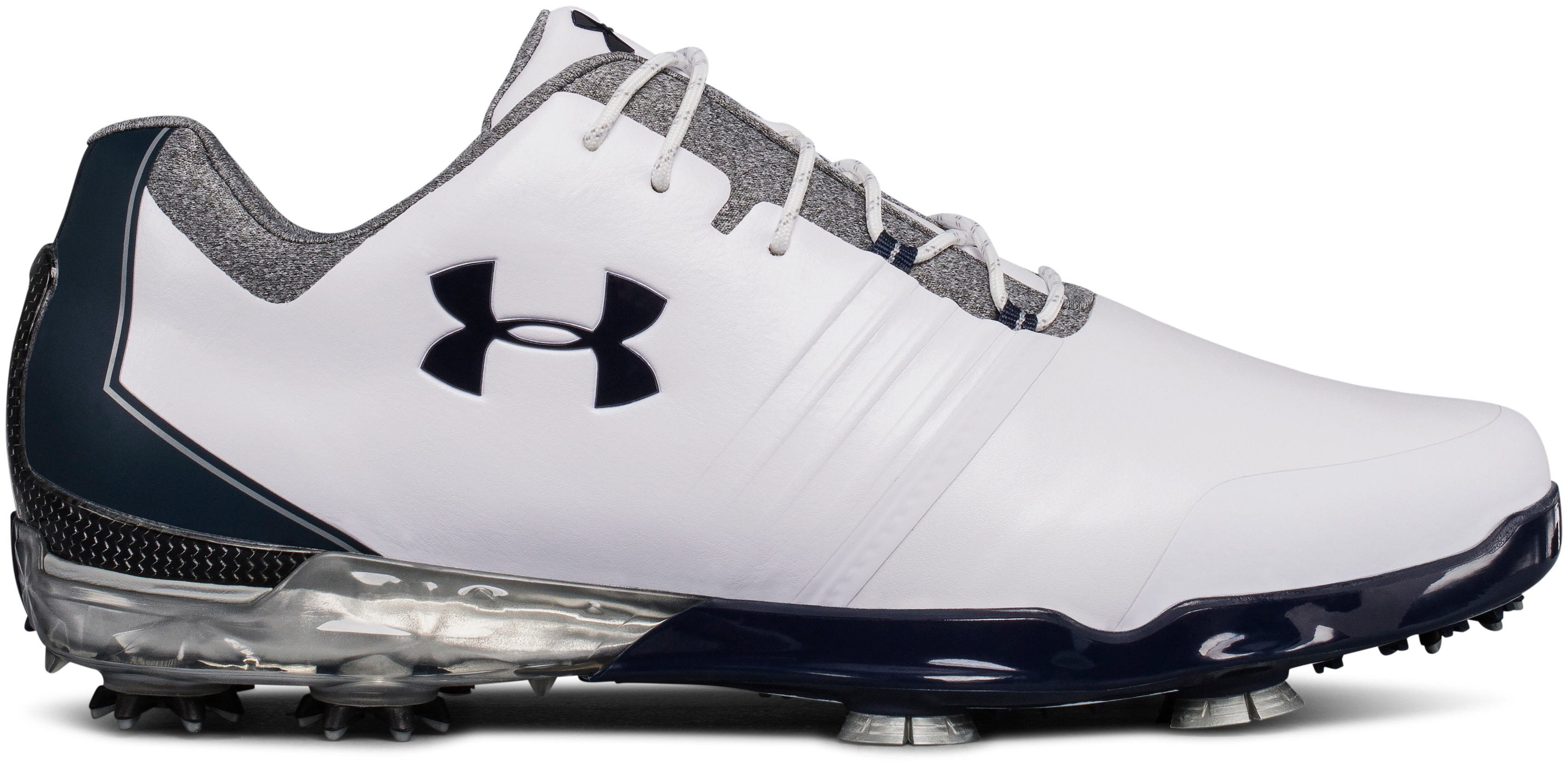 Men's UA Match Play E Golf Shoes, WHITE 1, undefined