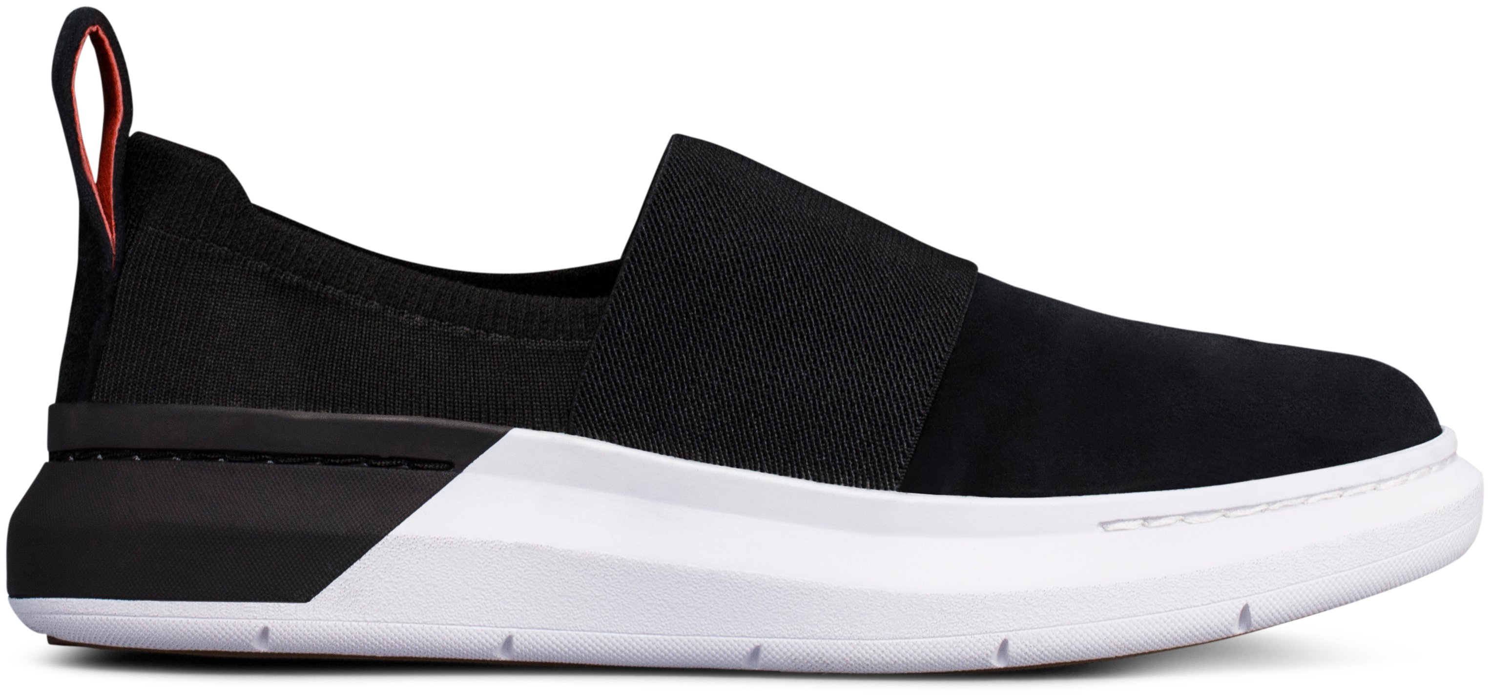 Women's UAS Cupsole Slip On - Suede Shoes, Black