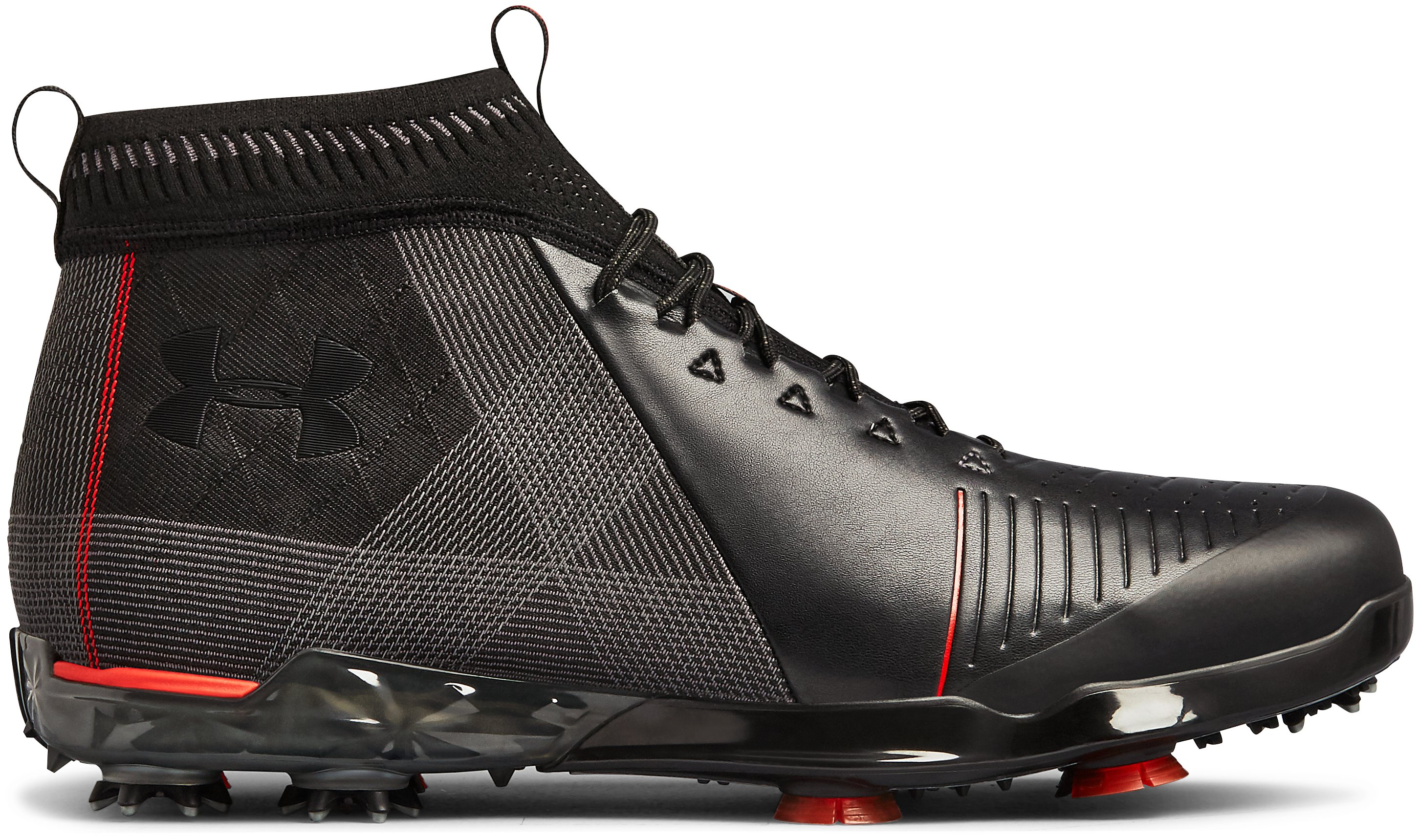 Men's UA Spieth 2 Mid Golf Shoes, Black , zoomed