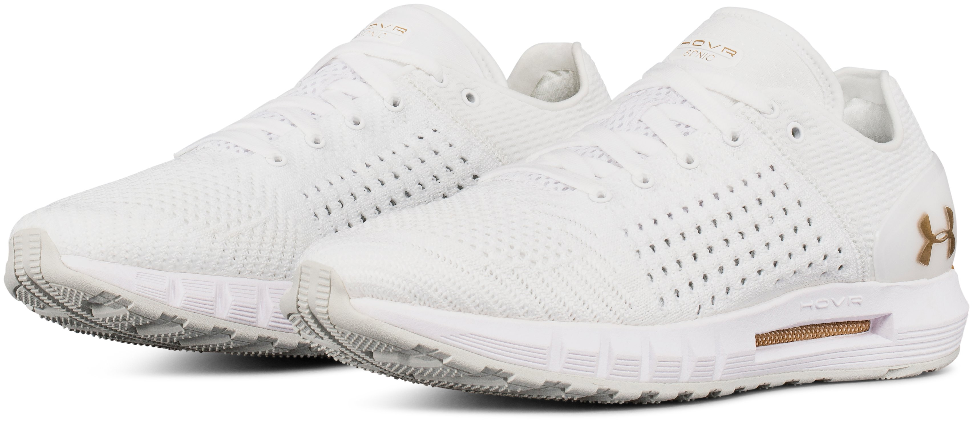 Women's UA HOVR Sonic Running Shoes, White,