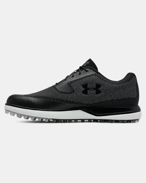 Men's UA Tour Tips Knit SL Golf Shoes, Black, pdpMainDesktop image number 1