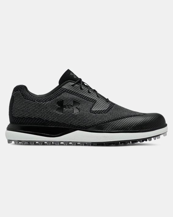Men's UA Tour Tips Knit SL Golf Shoes, Black, pdpMainDesktop image number 0