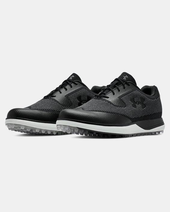 Men's UA Tour Tips Knit SL Golf Shoes, Black, pdpMainDesktop image number 4