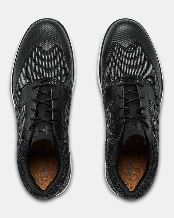 Men's UA Tour Tips Knit SL Golf Shoes, Black, pdpMainDesktop image number 3