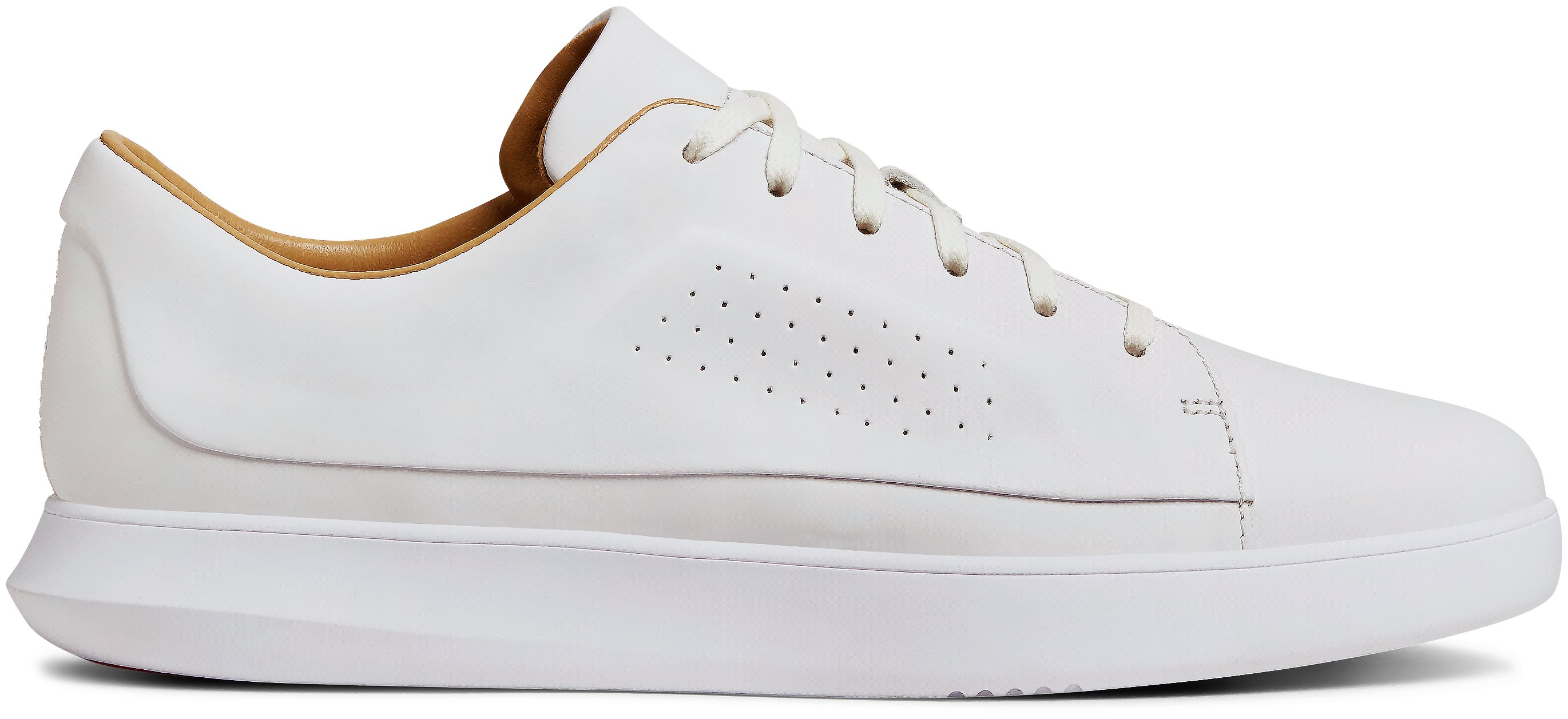 Men's UAS Club Low - Leather Shoes, White,