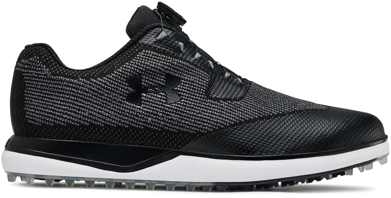 Men's UA Tour Tips Knit SL BOA — Wide (2E) Golf Shoes, 360 degree view