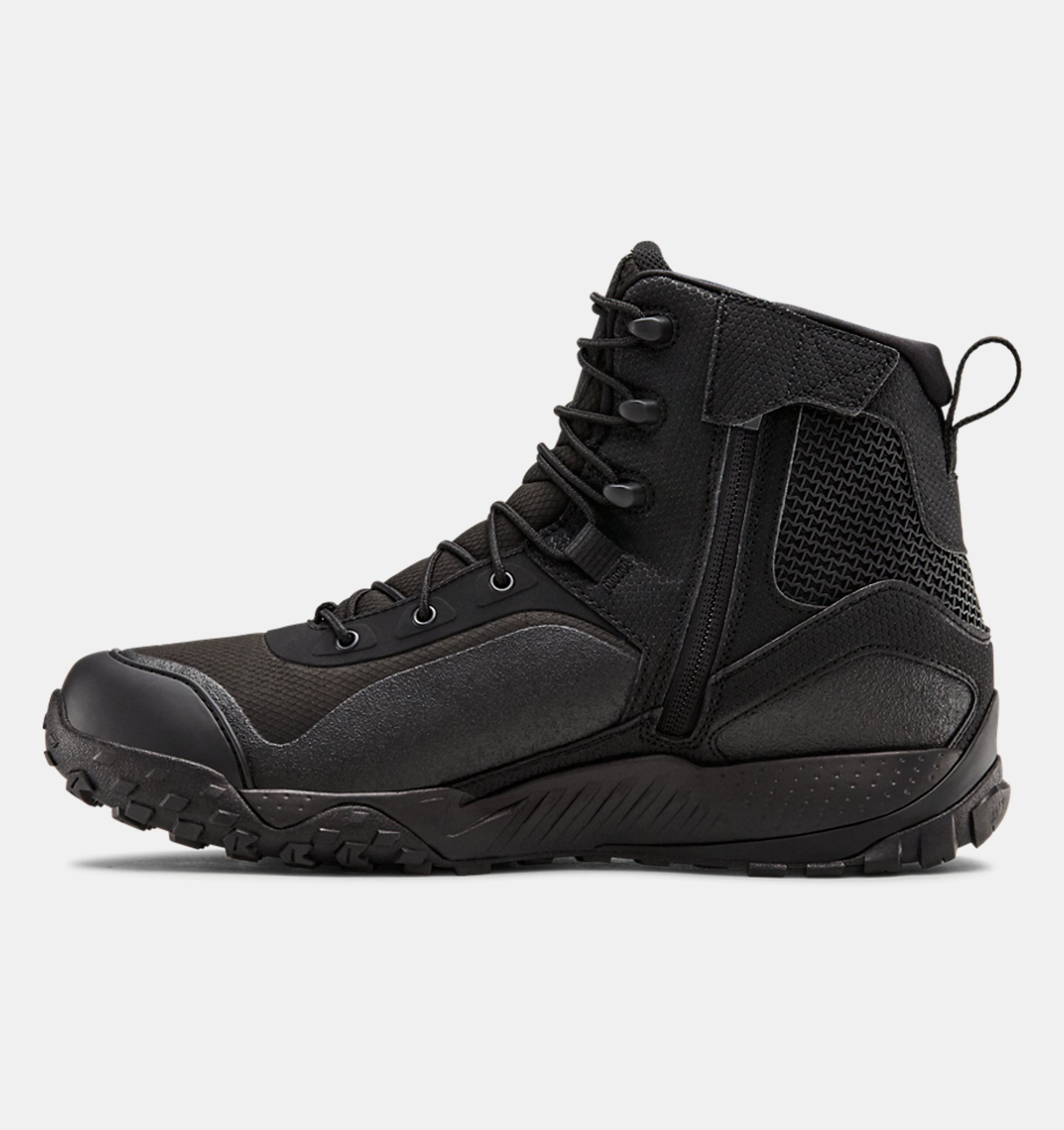 Men's UA Valsetz RTS 1.5 Side Zip Tactical Boots, Black, pdpZoomDesktop image number 1