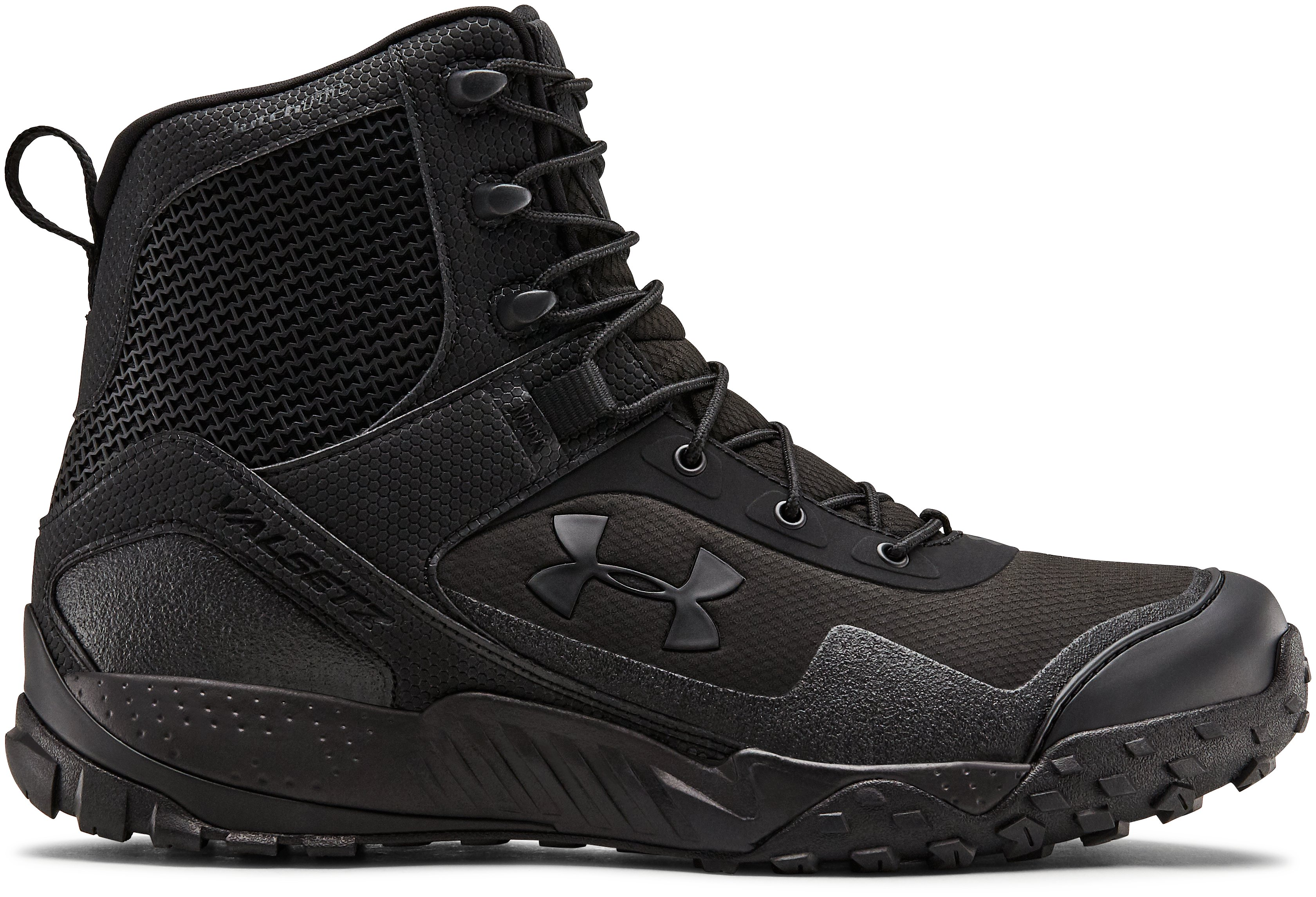 Men's UA Valsetz RTS 1.5 Side Zip Tactical Boots, Black , zoomed