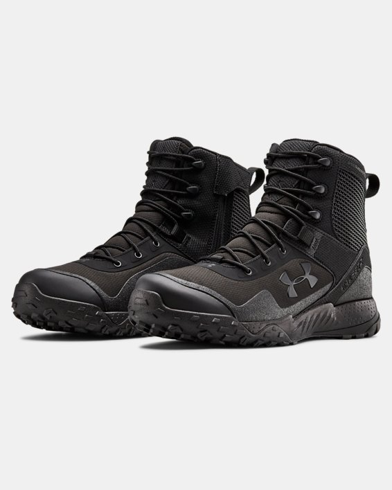 Men's UA Valsetz RTS 1.5 Side Zip Tactical Boots, Black, pdpMainDesktop image number 4