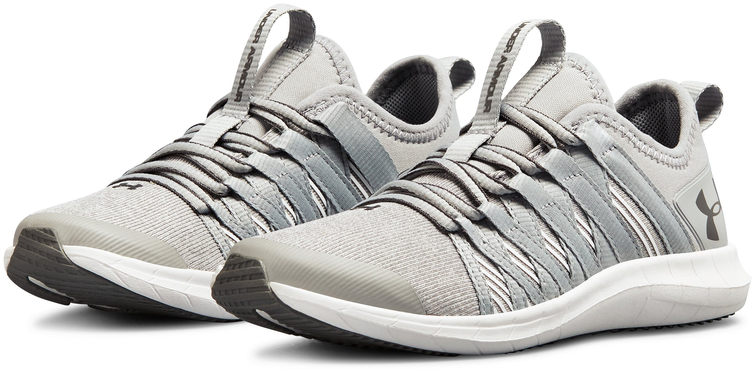 Girls' Pre-School UA Infinity TS Shoes, OVERCAST GRAY,