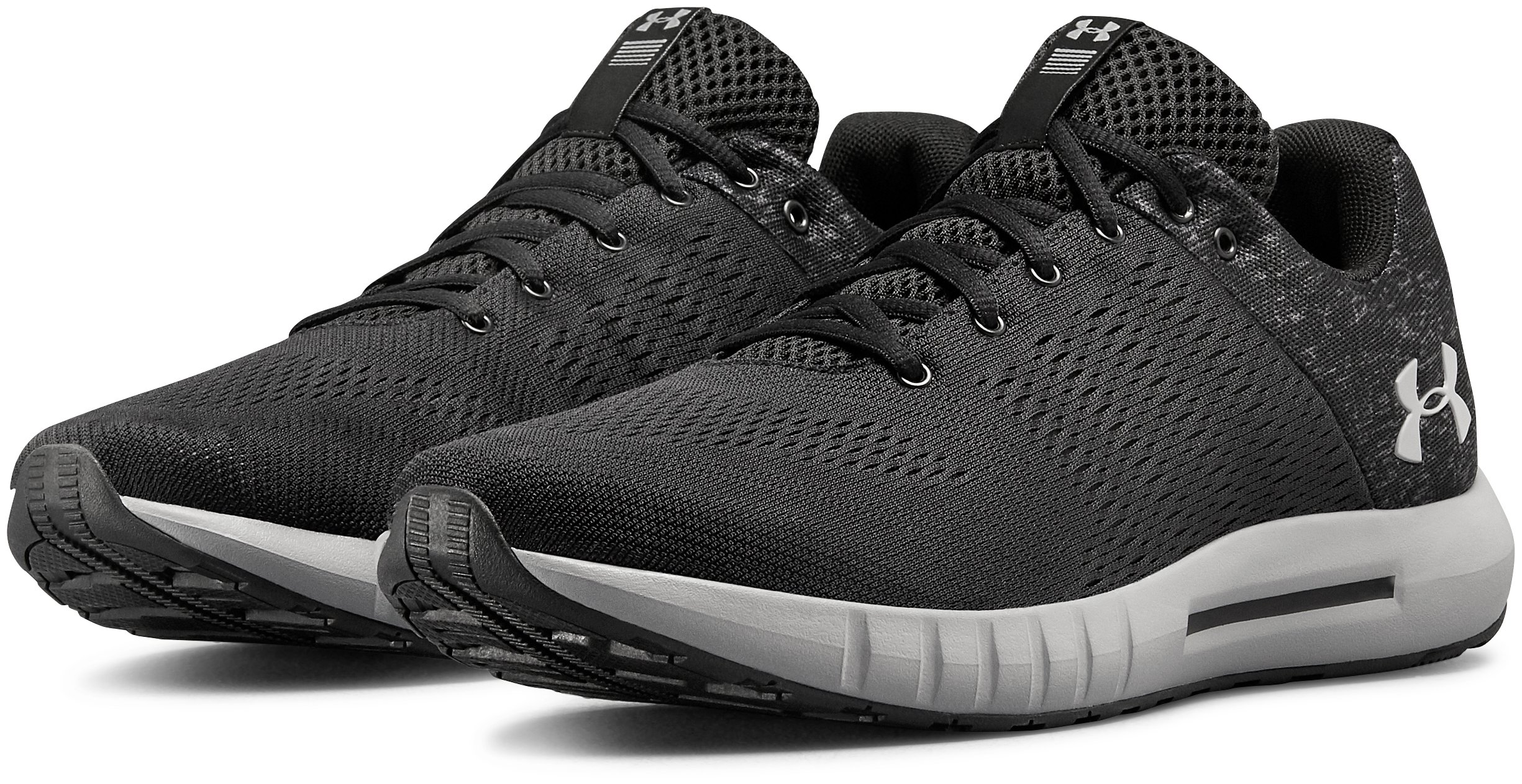 Men's UA Micro G® Pursuit Fiber Opt Running Shoes, Black ,