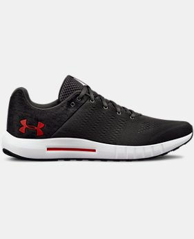 New Arrival  Men's UA Micro G® Pursuit Fiber Opt Running Shoes  1  Color Available $85