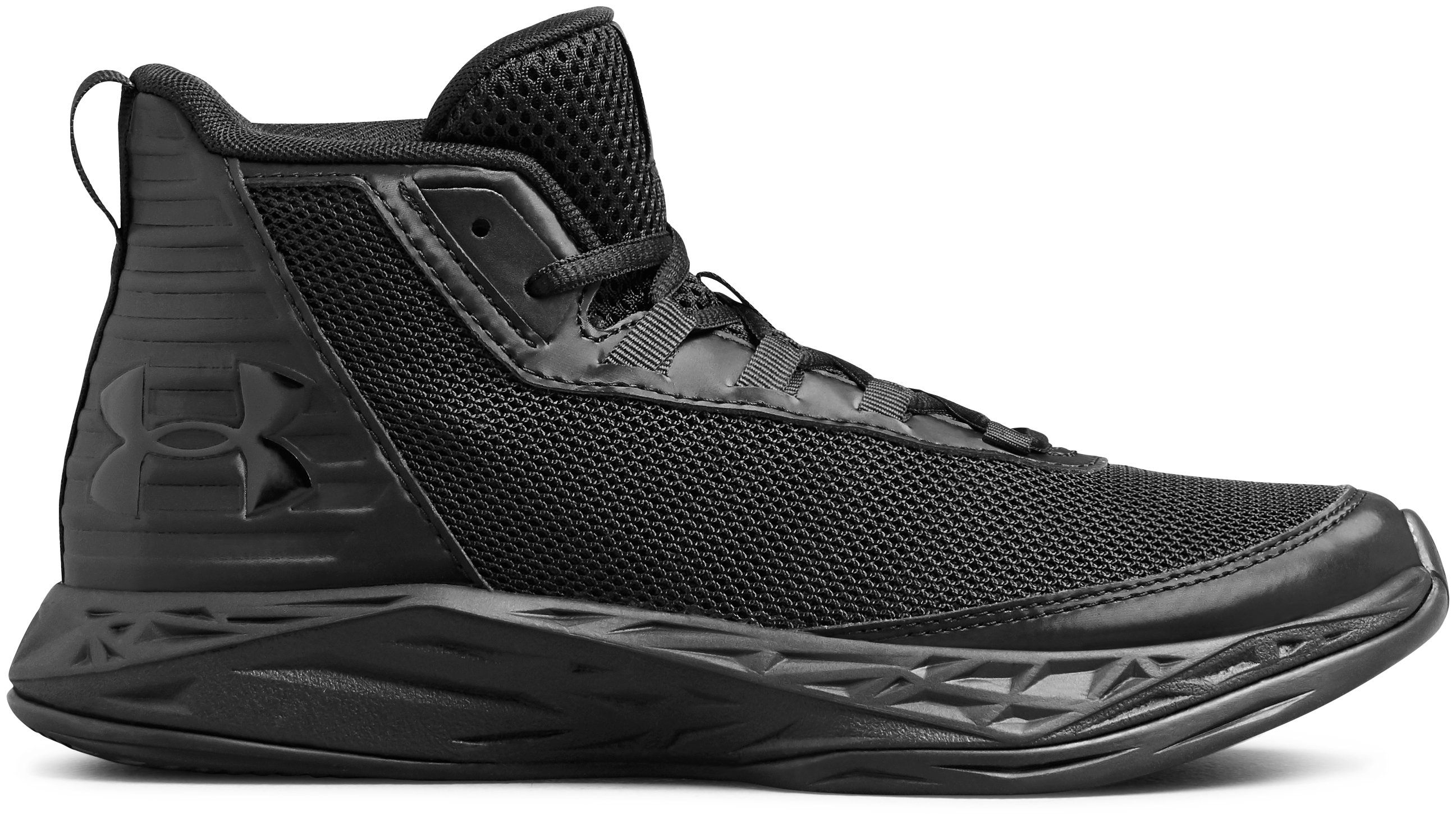 Boys' Grade School UA Jet 2018 SYN Basketball Shoes, 360 degree view