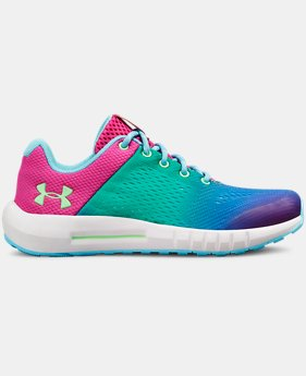 Girls' Pre-School UA Pursuit Prism Shoes  1  Color Available $55