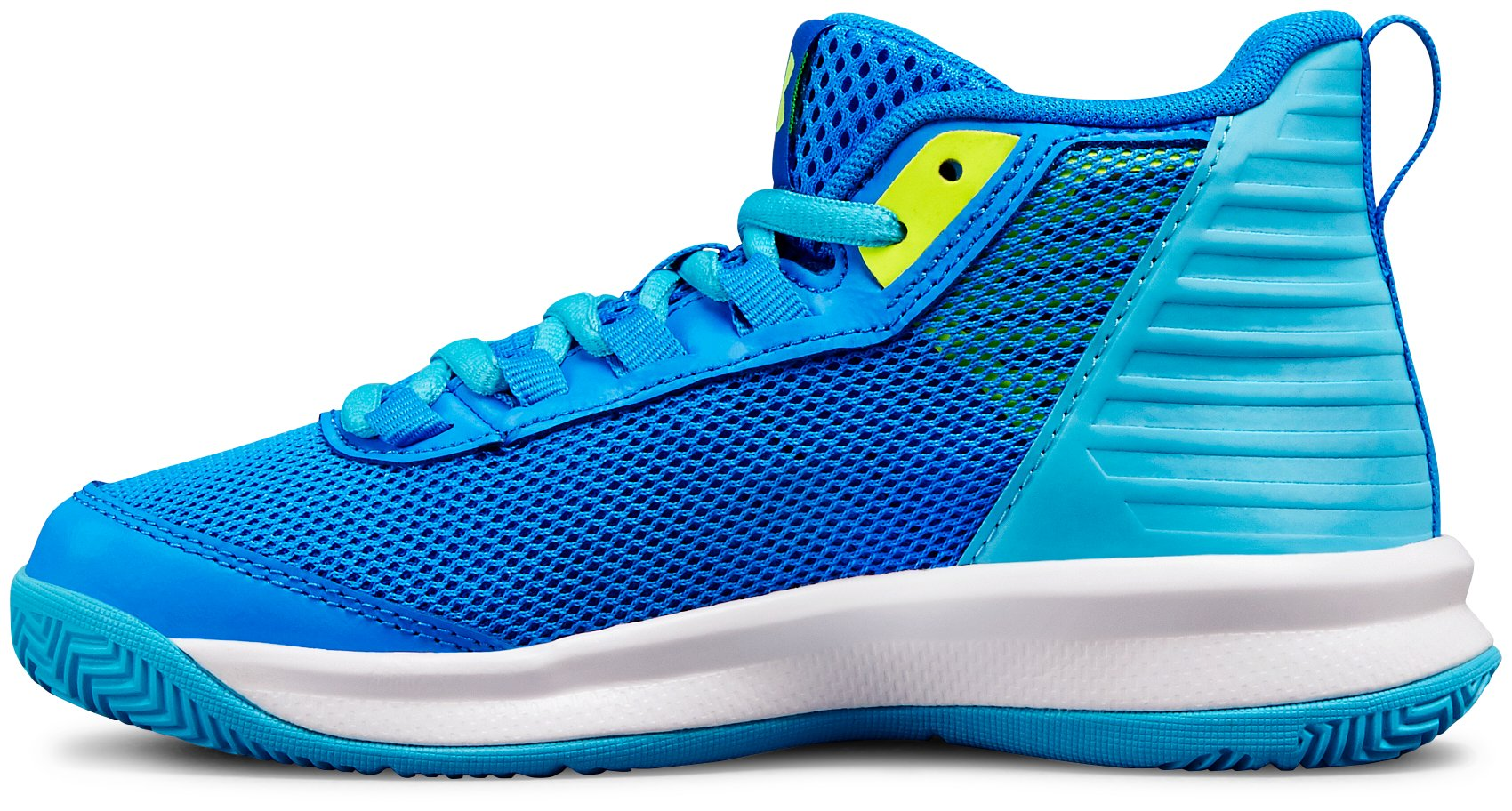 Girls' Pre-School UA Jet 2018 Basketball Shoes, Blue Circuit,
