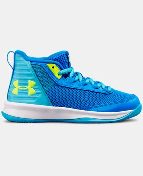 Girls' Pre-School UA Jet Basketball Shoes  1  Color Available $50