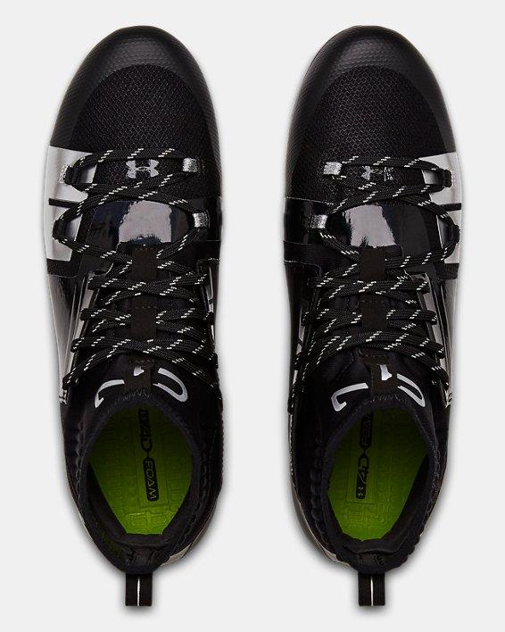 Men's UA C1N MC Football Cleats, Black, pdpMainDesktop image number 3