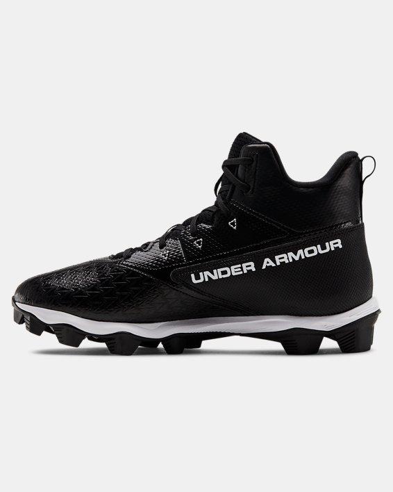 Men's UA Hammer Mid RM Football Cleats, Black, pdpMainDesktop image number 1