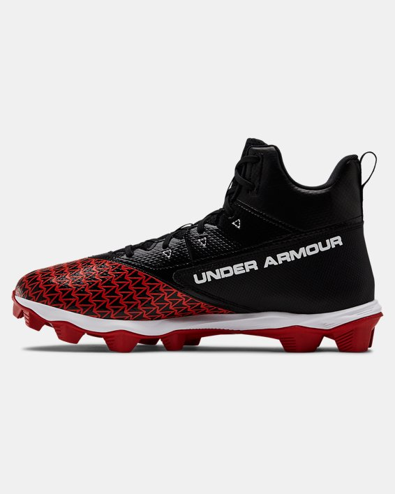Men's UA Hammer Mid RM Football Cleats, Black, pdpMainDesktop image number 1