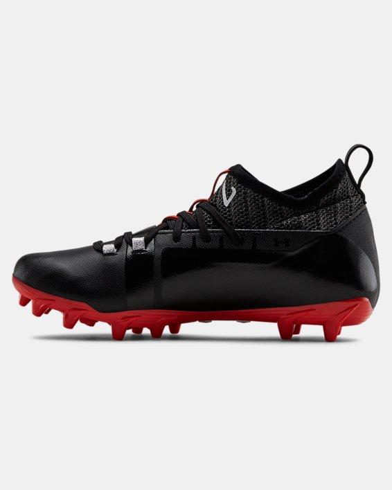 Boys' UA C1N MC Jr. Football Cleats, Black, pdpMainDesktop image number 1