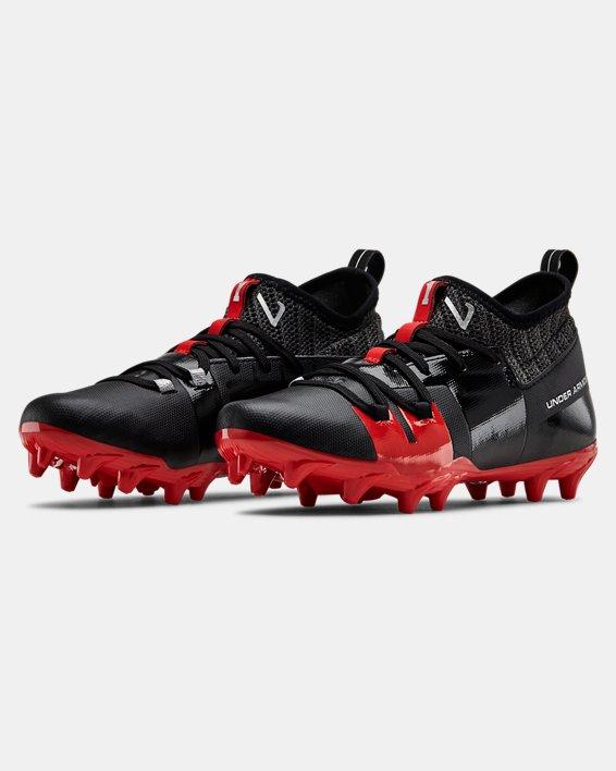 Boys' UA C1N MC Jr. Football Cleats, Black, pdpMainDesktop image number 4