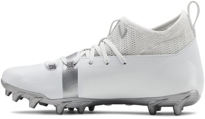 UNDER ARMOUR UA C1N MC TD White Silver Molded Football Cleats Mens 9 9.5 11 12