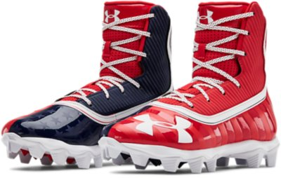 Jr Under Armour Boys/' Highlight RM White// Silver Size 5Y Lacrosse Shoe