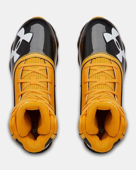 Boys' UA Highlight RM Jr. Football Cleats, Black, pdpMainDesktop image number 3