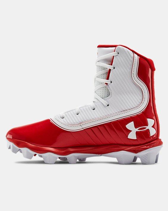 Boys' UA Highlight RM Jr. Football Cleats, Red, pdpMainDesktop image number 1