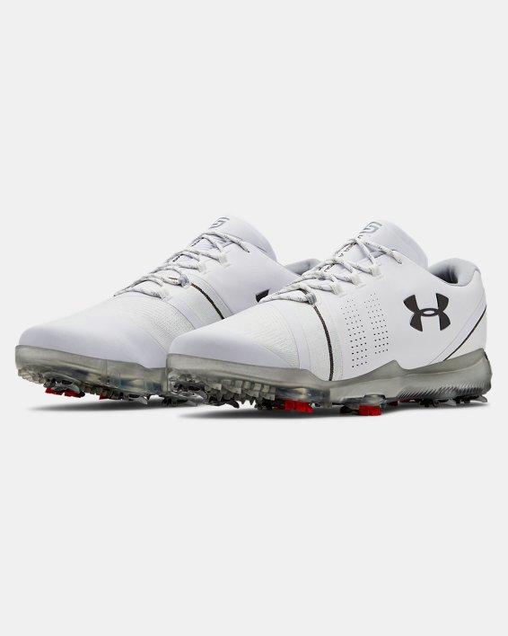 Men's UA Spieth 3 Golf Shoes, White, pdpMainDesktop image number 4