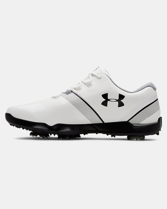 Boys' UA Spieth 3 Jr. Golf Shoes, White, pdpMainDesktop image number 1