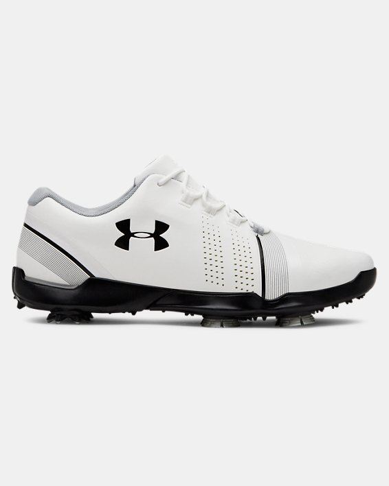Boys' UA Spieth 3 Jr. Golf Shoes, White, pdpMainDesktop image number 0