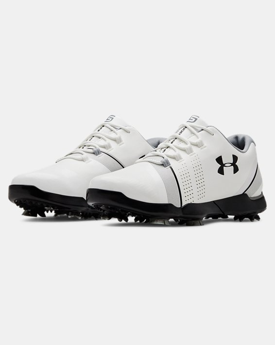 Boys' UA Spieth 3 Jr. Golf Shoes, White, pdpMainDesktop image number 4