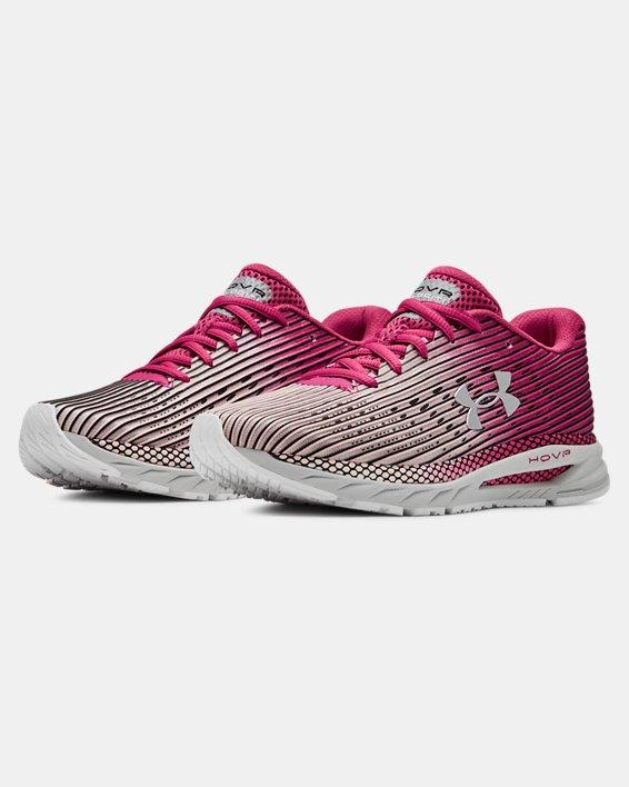 Women's UA HOVR™ Velociti 2 Running Shoes, Pink, pdpMainDesktop image number 4