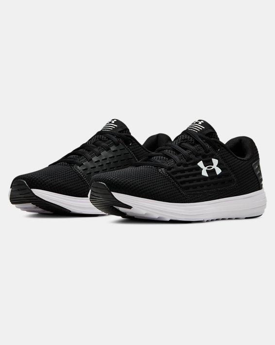 Women's UA Surge SE Running Shoes, Black, pdpMainDesktop image number 4