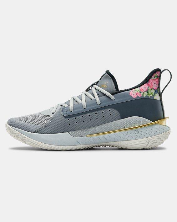 Adult UA Curry 7 Basketball Shoes, Gray, pdpMainDesktop image number 1