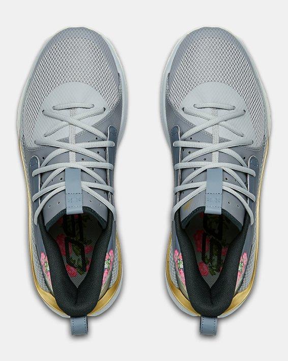 Adult UA Curry 7 Basketball Shoes, Gray, pdpMainDesktop image number 3
