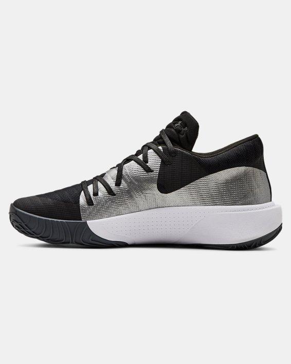 Men's UA Anatomix Spawn Low Basketball Shoes, Black, pdpMainDesktop image number 1