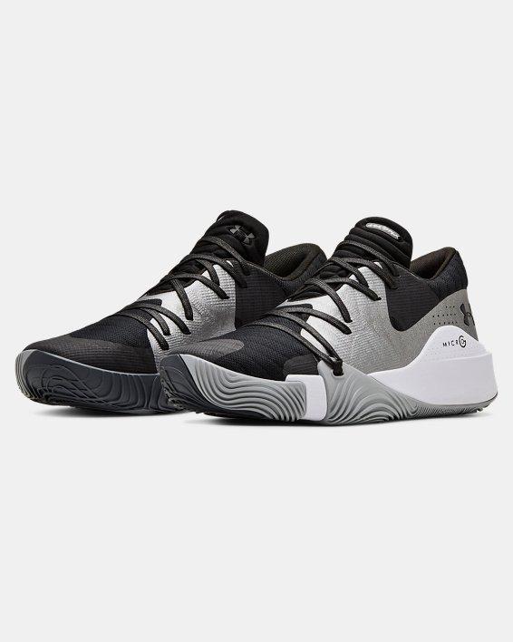 Men's UA Anatomix Spawn Low Basketball Shoes, Black, pdpMainDesktop image number 4