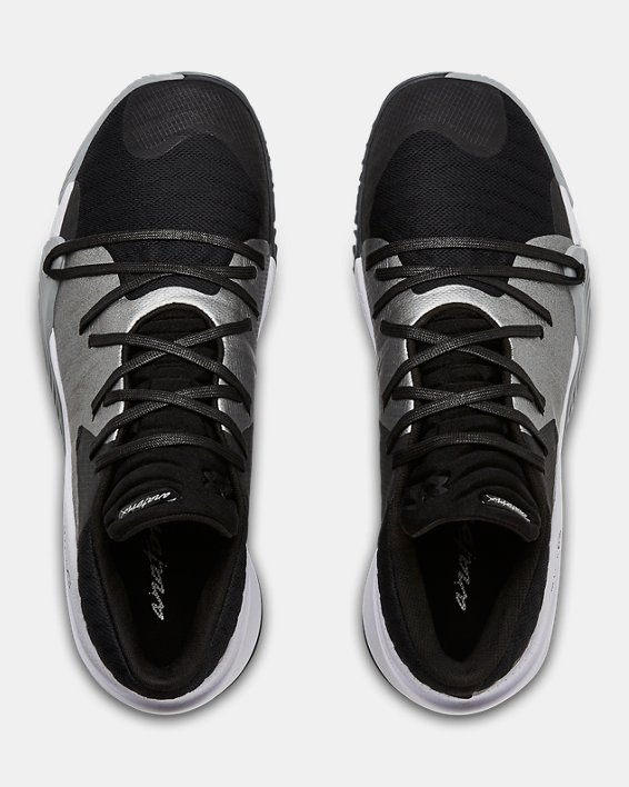 Men's UA Anatomix Spawn Low Basketball Shoes, Black, pdpMainDesktop image number 3