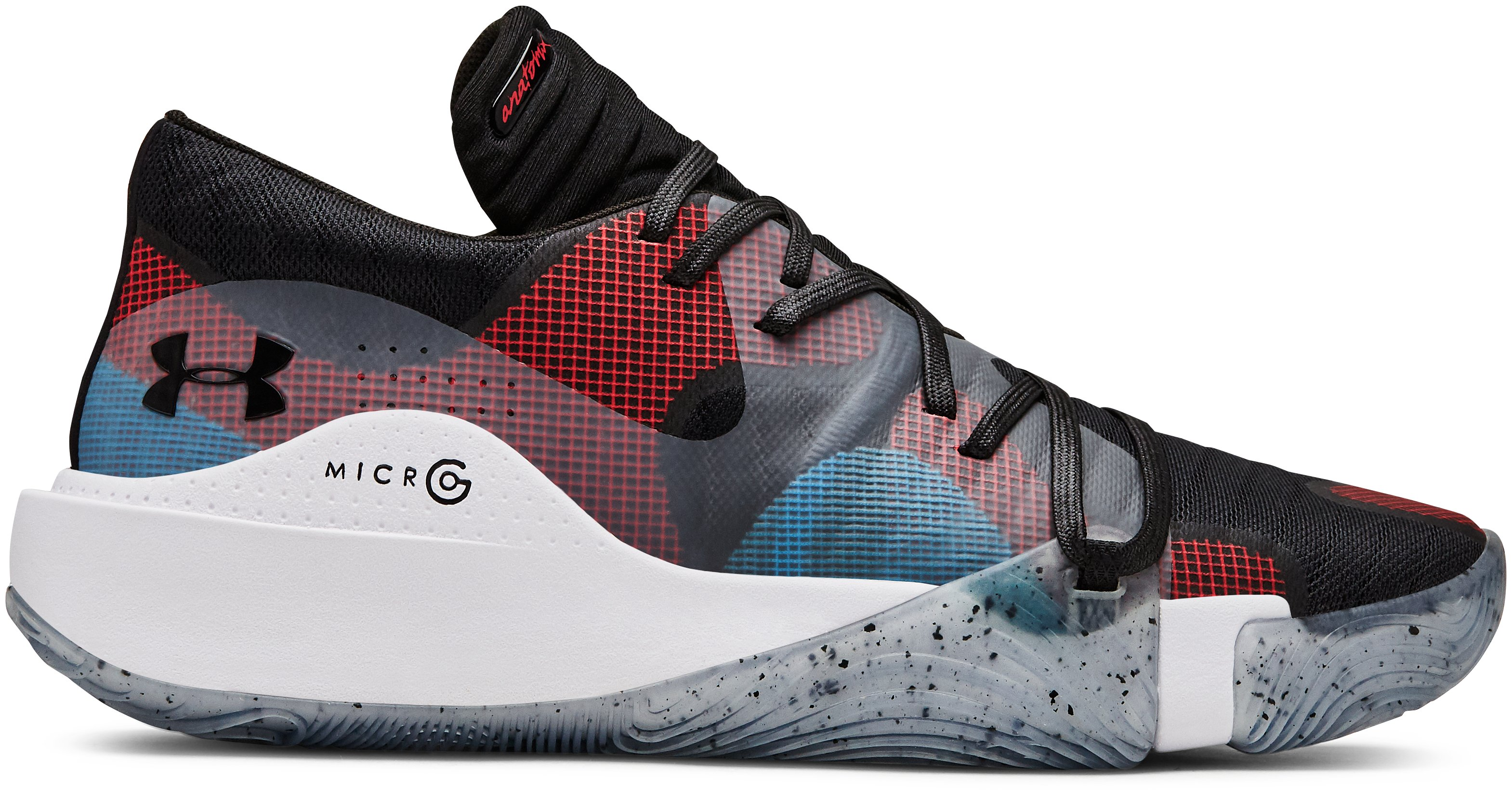 Men's UA Anatomix Spawn Low Basketball Shoes, 360 degree view