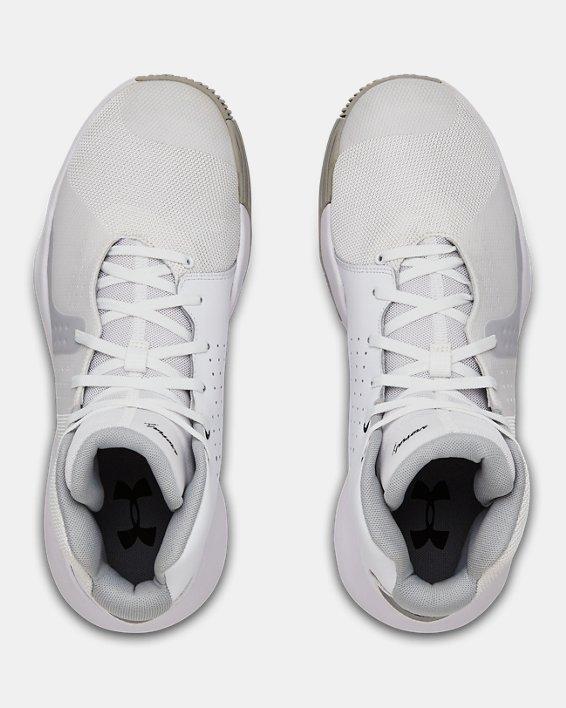 Men's UA Anomaly Basketball Shoes, White, pdpMainDesktop image number 3