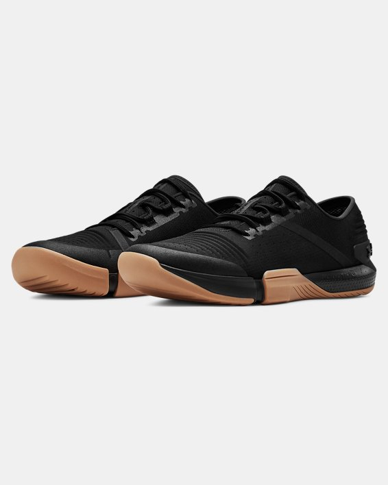 Chaussures d'entraînement UA TriBase™ Reign pour homme, Black, pdpMainDesktop image number 4