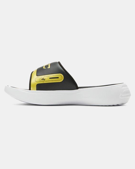 Boys' UA Curry 6 Slides, Black, pdpMainDesktop image number 1